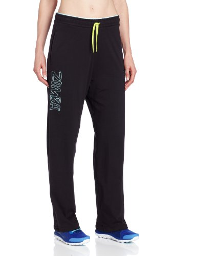 Zumba Fitness Women's Let's Rock-It Sweatpants, Black, Medium