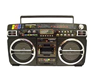 Exclusive Lasonic i931X Ghetto Blaster with iPod/iPhone Dock- Black