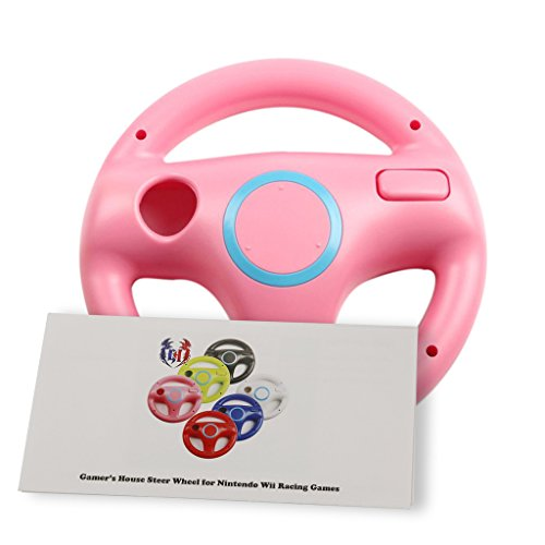 Wii U/Wii Wheel for Racing Games, Mario Kart Racing Wheels - Peach Pink (6 Colors Available) (Steering Wheel Play 2 compare prices)