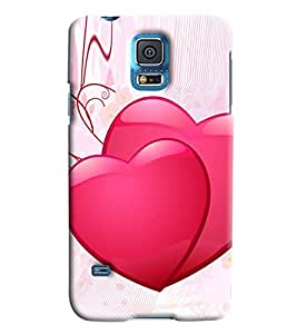 Clarks Two Hearts Inspired Hard Plastic Printed Back Cover/Case For Samsung Galaxy S5