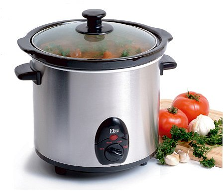 MaxiMatic MST-450X Elite Gourmet 3-1/2-Quart Slow Cooker, Stainless