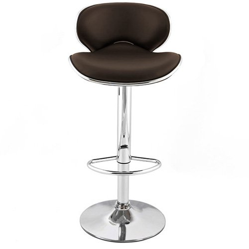 Kappa Contemporary Adjustable Barstool - Coffee