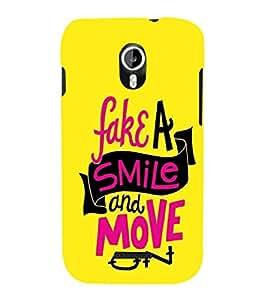 EPICCASE Fake Smile Mobile Back Case Cover For Micromax Canvas Magnus A117 (Designer Case)