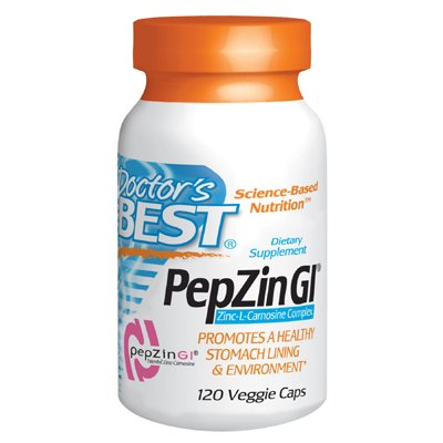 Doctor's Best Zinc Carnosine Complex, with PepZin GI, 120 Vegetarian Capsules from Doctor's Best