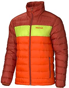 Marmot Ares Jacket - Men's Sunset Orange/Green Lime XX-Large