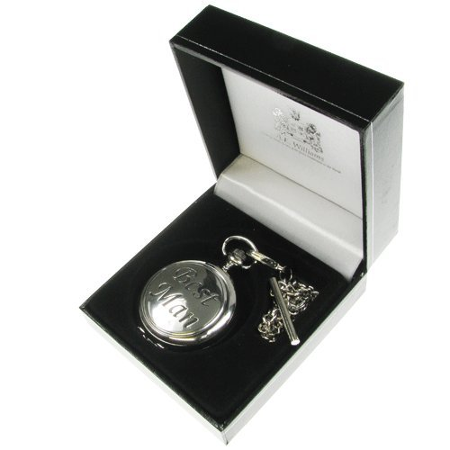 Best Man Gift, Engraved Pocket Watch with Solid Pewter 'Best Man' Feature Case Front in a Quality Presentation Box, Gift for Best Man