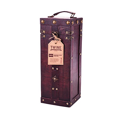 True Fabrications Twine Twine Treasure Chest Wine Box For Storage Of 1 Bottle Of Wine front-595079