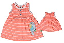 TOFFY HOUSE Orange Frock for Kids