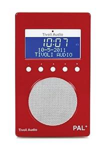 Tivoli Audio PAL+ DAB/DAB+ Portable Radio - Red