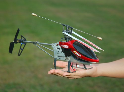 Brand New 20 Inch Big Size 2.4G 4 CH 4 Channel Single Propeller Metal Structure RC Outdoor Helicopter, Color Red