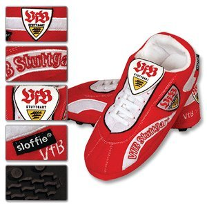 VFB Stuttgart Football Boot Slippers-M (6-7)