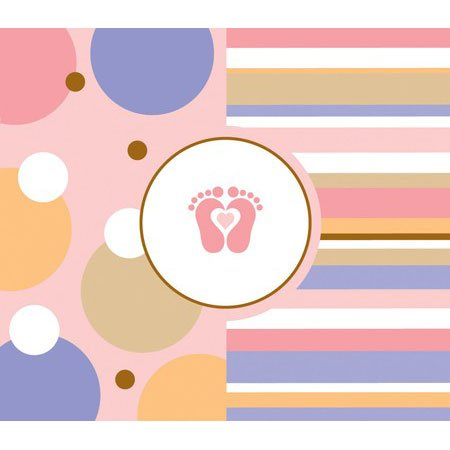 Tiny Toes Pink Baby Shower Bulk Invitations 25 Pack front-114038