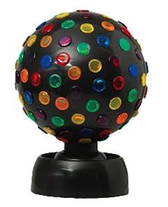 "9"" Disco ball lights in black"