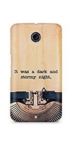 Casenation Vintage Typewriter Motorola Nexus 6 Glossy Case