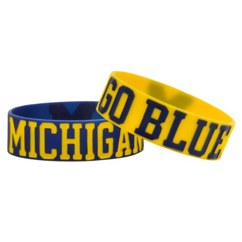 NCAA Michigan Bulky Bandz Bracelet 2-Pack