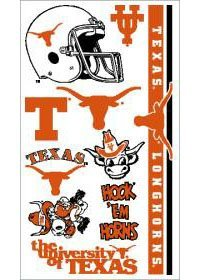 Texas Longhorns UT NCAA Temporary Tattoos (10 Tattoos)