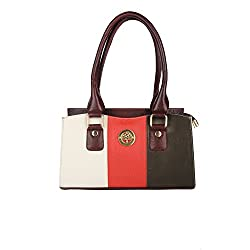 Hide Bulls Casual Leather Handbags For Women in Color Multi