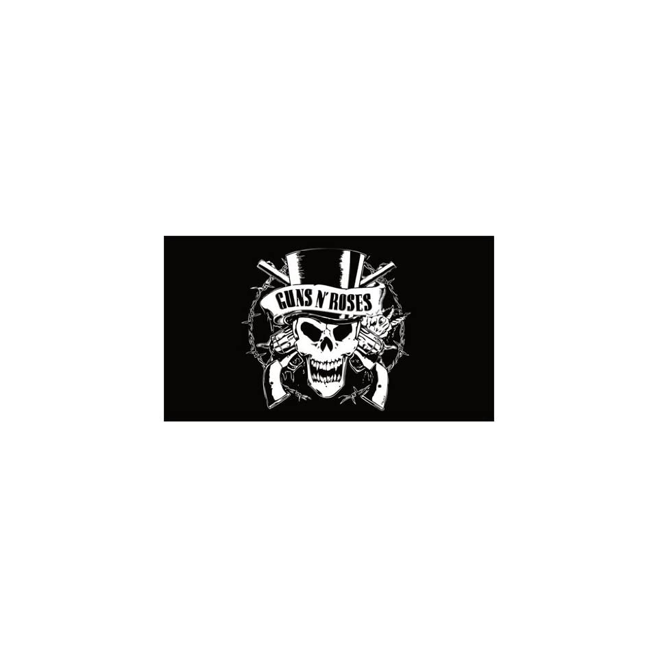 GUNS N ROSES  Black  amp  White Minimalist Art Logo  Everything ElseGuns N Roses Logo Black And White