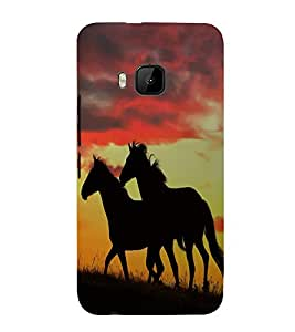 Vizagbeats two horses Back Case Cover for HTC One M9::HTC M9