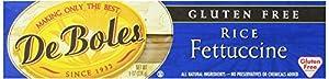 DeBoles Gluten Free Fettuccine Rice Pasta, 8 Ounce (Pack of 12)