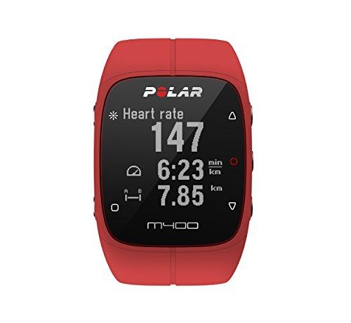 polar-m400-cardiofrequencemetre-mixte-adulte-rouge-taille-unique