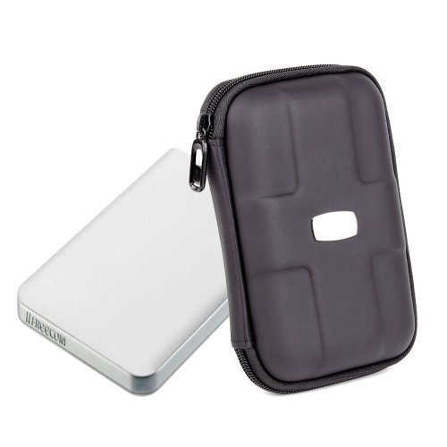 Executive Sturdy Black Carry Case For Freecom Mobile Drive Secure, ToughDrive.
