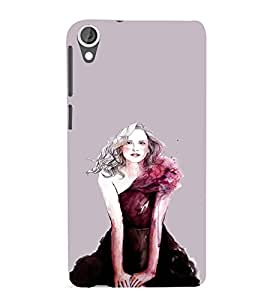 EPICCASE Supermodel Mobile Back Case Cover For HTC Desire 820 (Designer Case)