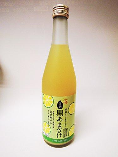 忠孝酒造 青切りシークヮーサー黒あまざけ(甘酒) 500ml