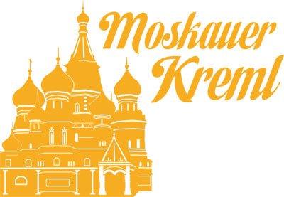 Wandtattoo Sticker für Wohnzimmer Büro Moskauer Kreml Russland Asien Burg (43x30cm//020 goldgelb)