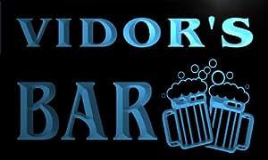 w104790-b VIDOR Name Home Bar Pub Beer Mugs Cheers Neon Light Sign Barlicht Neonlicht Lichtwerbung