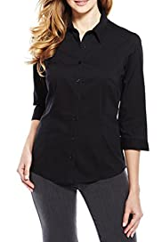 M&S Collection Classic Collar Pleated Shirt [T43-1642-S]