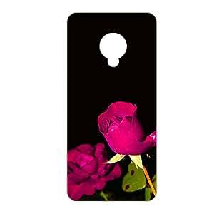 Vibhar printed case back cover for Karbonn Mach 5 RosePinkBlack