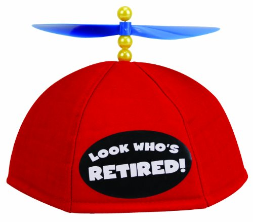 BigMouth Inc Look Who's Retired - Propeller Beanie - 1