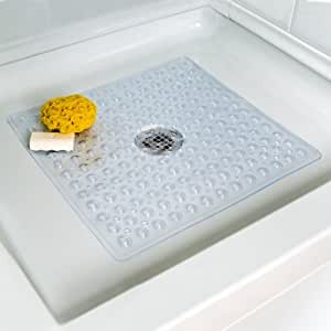 deluxe square shower mat clear baby