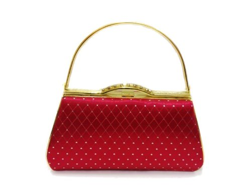 Gossip Girl - Glittery Hard Clutch Purse Evening Bag Rockabilly Jive 50's Style - RED