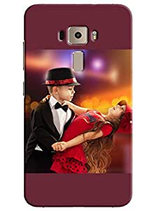 Omnam Cute Little Boy Holding A Girl And Dancing Printed Back Cover Case For Asus Zenfone 3 ZE552KL