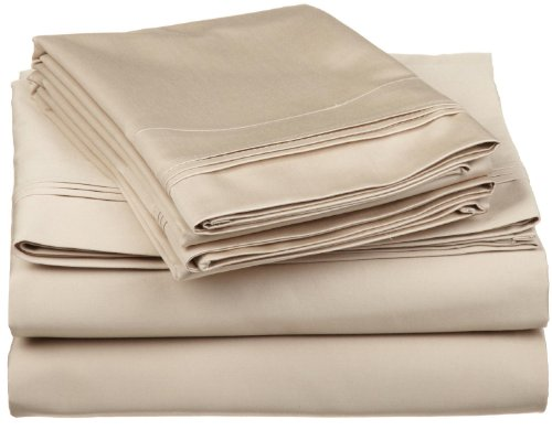 Egyptian Cotton 650 Thread Count Oversized Split King Sheet Set Solid, Linen front-746703
