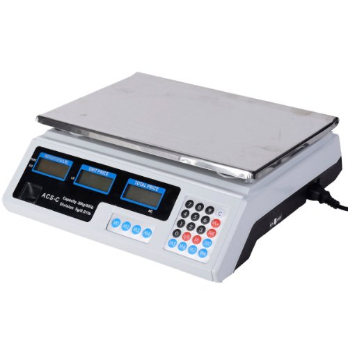 Safstar Electronic Price Computing Scale LCD Digital Commercial Food Meat Counting Weighting Scale 66 Ib Capacity (Industrial Food Scale compare prices)