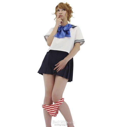 【Be★With】ぴたフィットしまぱん 赤x白 触り心地最高!
