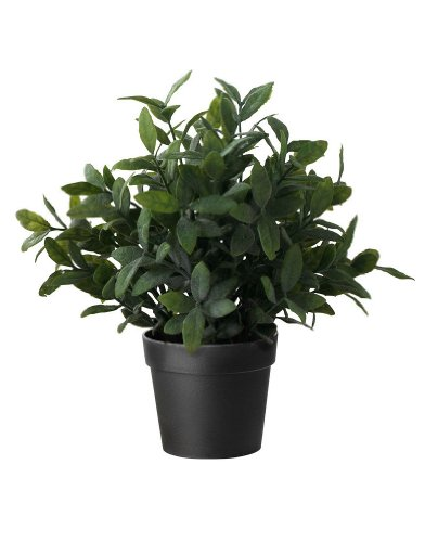Ikea fejka artificial potted plant sage 9 5 for Black planters ikea