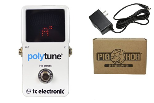 Tc Electronic Polytune 2 Bundle - 1 Item: Pig Hog 9V Power Adapter
