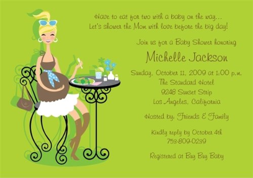 Eating for Two Baby Shower Invitations - Set of 20