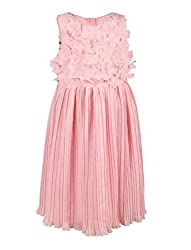 Chicabelle Girls' Dress (CH-29B_Pink_10-12 Years)