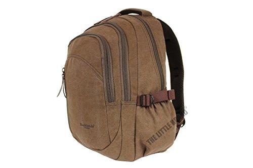 rocklands-london-unisex-adult-brown-canvas-backpack-rucksack-travel-bag-30-liter
