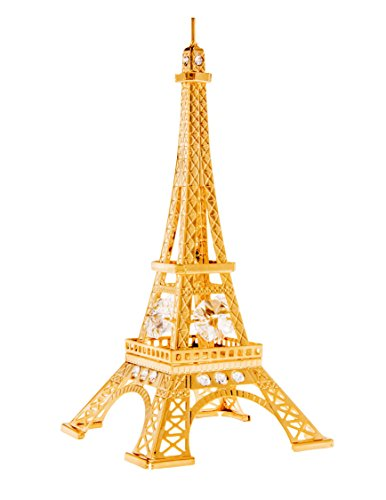 Eiffel Tower 24k Gold Plated Figurine with Swarovski Crystals (Crystal Eiffel Tower compare prices)