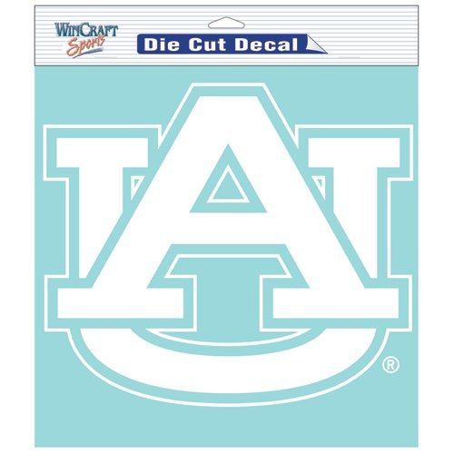 Auburn Tigers NCAA Vinyl Die Cut Window Decal Auto Car Logo White 8x8 Sticker College Licensed Team Logo at Amazon.com