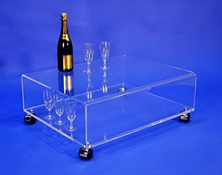 Table basse transparente