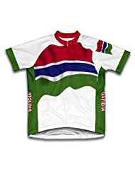 Gambia Flag Short Sleeve Cycling Jersey for Women