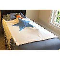 Amazing Patent Pending Bedwetting Pad, No More Sheet Changes in the Night. Our Waterproof Pad Protects the Top and Bottom Sheets. Child Removes Wizard, Changes Pjs and Climbs Backs Into Dry Bed