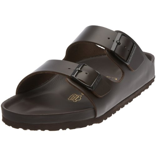 Birkenstock Monterey Smooth Leather, Style-No. 89093, Unisex Clogs, Dark-Brown, EU 47, slim width